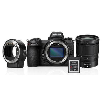 Für weitere Info hier klicken. Artikel: Nikon Z6 + 4,0/24-70 S + FTZ Objektivadapter + 64GB XQD