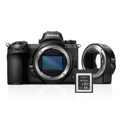 Für weitere Info hier klicken. Artikel: Nikon Z6 + FTZ Adapter Kit + 64GB XQD