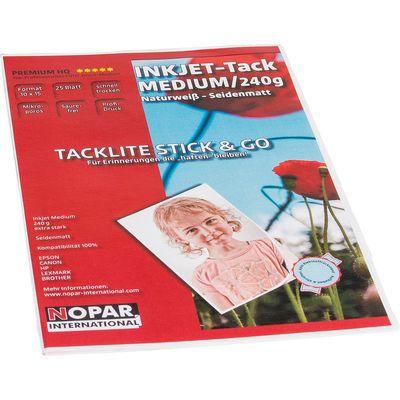 Für weitere Info hier klicken. Artikel: Nopar Inkjet Fotopapier Tacklite Stick & Go 4.0-Klebefolie 10x15 (25 Blatt)