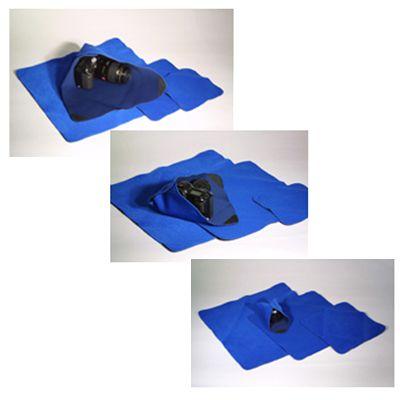 Einschlagtuch Stretch blau 38x38