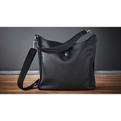Für weitere Info hier klicken. Artikel: Oberwerth Damentasche KATE silberne Beschläge Leder schwarz