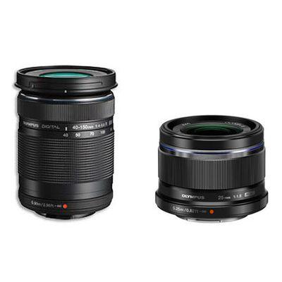 Für weitere Info hier klicken. Artikel: Olympus M.Zuiko 40-150mm f/4,0-5,6 R ED + M.Zuiko AF 25mm f/1,8 schwarz Micro Four Thirds