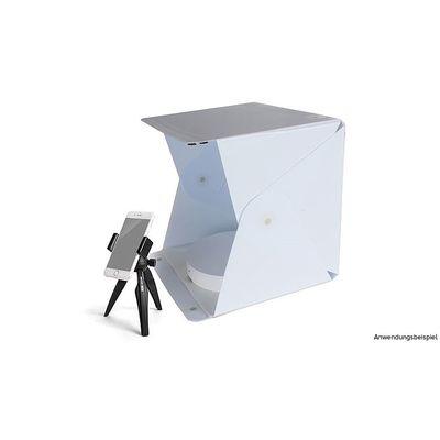 Für weitere Info hier klicken. Artikel: Orangemonkie Mini Drehscheibe Foldio360 mit Aufnahmebox und Stativ