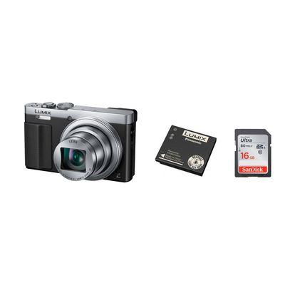 Für weitere Info hier klicken. Artikel: Panasonic DMC-TZ 71 + Akku DMW-BCM 13 E + SDHC Ultra UHS-I, 80MB/Sec 16 GB silber