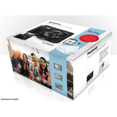 Für weitere Info hier klicken. Artikel: Panasonic DMC-TZ58 Special Edition + Peter Hadley 16GB Prof.SD Karte/Peter Hadley Microfasertuch weiß