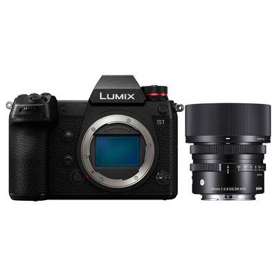 Für weitere Info hier klicken. Artikel: Panasonic Lumix DC-S1 + Sigma AF 45mm f/2,8 DG DN C L-Mount schwarz