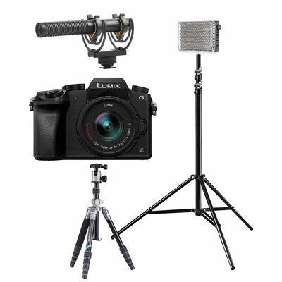 Für weitere Info hier klicken. Artikel: Panasonic Lumix DMC-G70 + AF 14-42mm OIS G-Vario Vlogger Kit für Fortgeschrittene schwarz