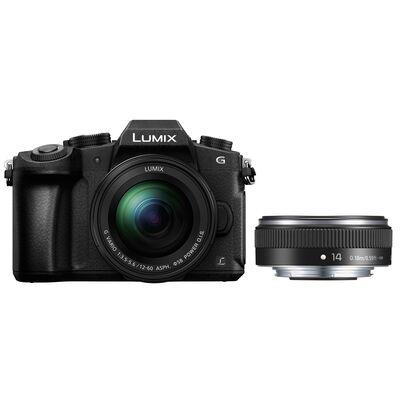 Für weitere Info hier klicken. Artikel: Panasonic Lumix DMC-G81 + 12-60mm f/3,5-5,6 G Vario Asph. OIS + AF 14mm f/2,5 II Pancake