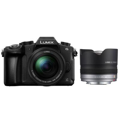 Für weitere Info hier klicken. Artikel: Panasonic Lumix DMC-G81 + 12-60mm f/3,5-5,6 G Vario Asph. OIS + AF 8mm f/3,5 Fisheye