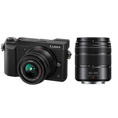 Für weitere Info hier klicken. Artikel: Panasonic Lumix DMC-GX80 + AF 14-42mm + AF 45-150mm OIS asph Micro Four Thirds schwarz
