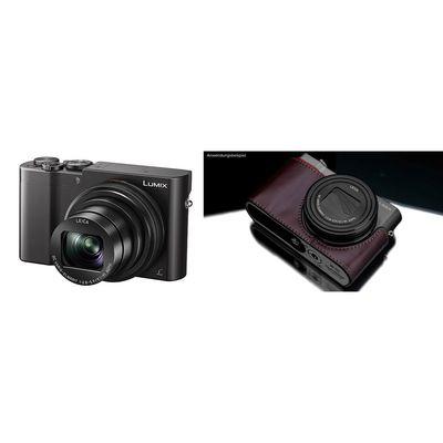 Für weitere Info hier klicken. Artikel: Panasonic Lumix DMC-TZ 101 + Gariz Halbtasche aus Leder braun schwarz