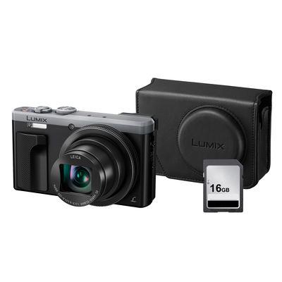 Für weitere Info hier klicken. Artikel: Panasonic Lumix DMC-TZ 81+ Panasonic Kunstledertasche DMW-PHS82+Speicherkarte 16GB silber