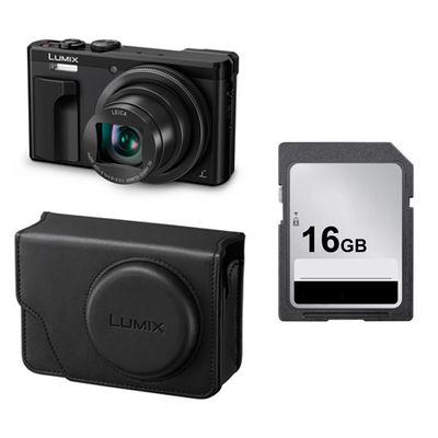Für weitere Info hier klicken. Artikel: Panasonic Lumix DMC-TZ 81 + Panasonic Kunstledertasche DMW-PHS82 + Speicherkarte 16GB schwarz