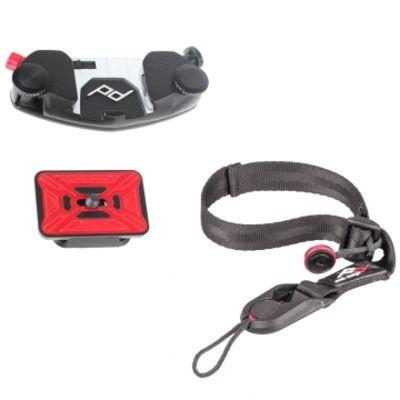 Für weitere Info hier klicken. Artikel: Peak Design CapturePro Kit mit Camera Clip inkl. ProPlate Kameraplatte und Cuff Handgelenkschlaufe - z.B. für DSLRs und Systemkameras