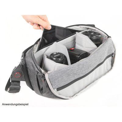 Für weitere Info hier klicken. Artikel: Peak Design Everyday Sling 10L Ash Fototasche für DSLR- und DSLM-Kameras hellgrau