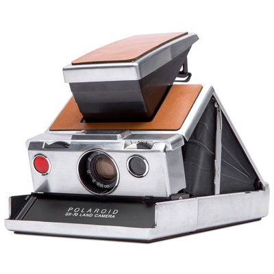 Für weitere Info hier klicken. Artikel: Polaroid SX-70 Camera Silber-Braun