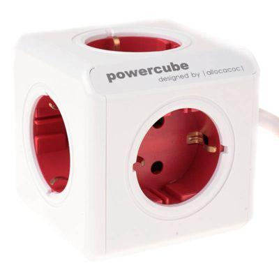 Für weitere Info hier klicken. Artikel: Powercube Allocacoc Extended Mehrfachsteckdose mit Verlängerungskabel 3m rot