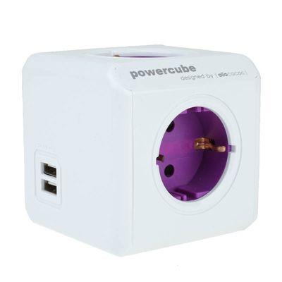 Für weitere Info hier klicken. Artikel: Powercube Allocacoc ReWirable USB Mehrfachsteckdose mit 2 USB-Anschlüssen magenta