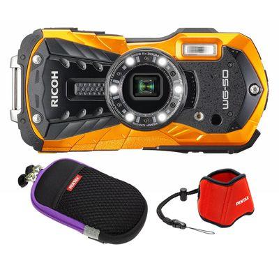 Für weitere Info hier klicken. Artikel: Ricoh WG-50 Kit mit Neoprentasche+ Floating Strap orange