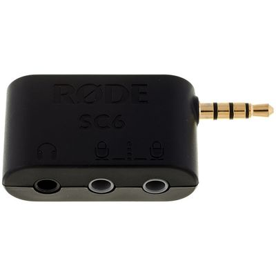 Für weitere Info hier klicken. Artikel: Rode SC6 Steckadapter für 2 TRRS-Eingänge und 1 Kopfhörerausgang