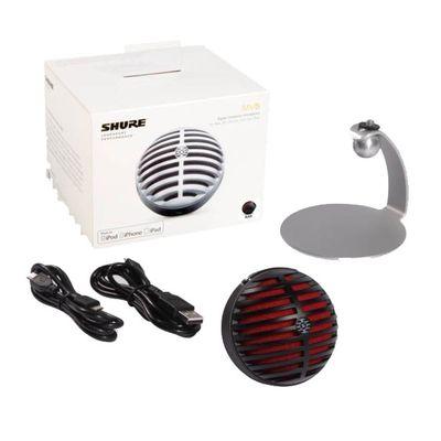 Für weitere Info hier klicken. Artikel: Shure MV5/A-B-LTG Digitales Kondensatormikrofon, Schw./Rot