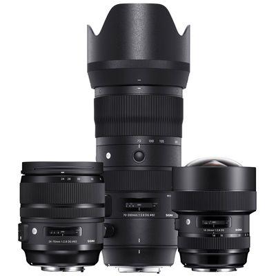 Für weitere Info hier klicken. Artikel: Sigma Objektivset AF 14-24mm f/2,8 DG HSM ART + AF 24-70mm f/2,8 DG OS ART + AF 70-200mm f/2.8 DG OS HSM S Canon EF