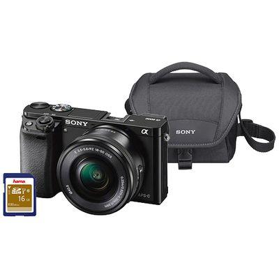 Für weitere Info hier klicken. Artikel: Sony Alpha 6000 (ILCE-6000) 16-50 inkl. Tasche und 16 GB Speicherkarte schwarz Sony NEX