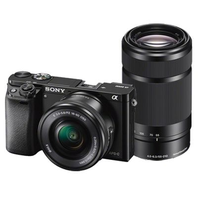 Für weitere Info hier klicken. Artikel: Sony Alpha 6000 (ILCE-6000YB) SEL 16-50 + 55-210 schwarz