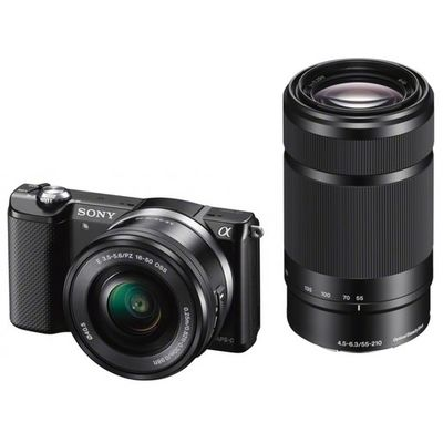 Für weitere Info hier klicken. Artikel: Sony Alpha ILCE-5000+16-50+55-210 mm OSS schwarz