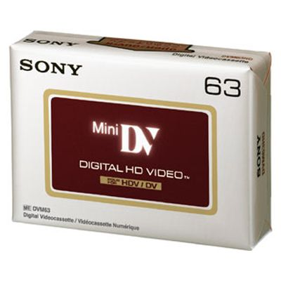 Für weitere Info hier klicken. Artikel: Sony DV-Kassette DVM-63 HDV 1x