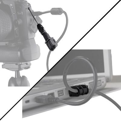 Für weitere Info hier klicken. Artikel: Tether Tools JerkStopper Tethering Kit - Kabelhalter als Zugentlastung für Kamerakabel und Computerkabel