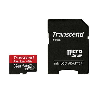 Für weitere Info hier klicken. Artikel: Transcend 32 GB microSDHC-Karte Class10 UHS-1 Premium 400x