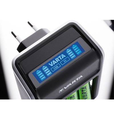 Für weitere Info hier klicken. Artikel: Varta LCD-Charger Plug incl. 4x Mignon AA ( 2100 mAh )