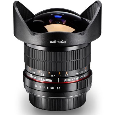 Für weitere Info hier klicken. Artikel: Walimex pro Fish-Eye MF 3,5/8 II AE Nikon DX