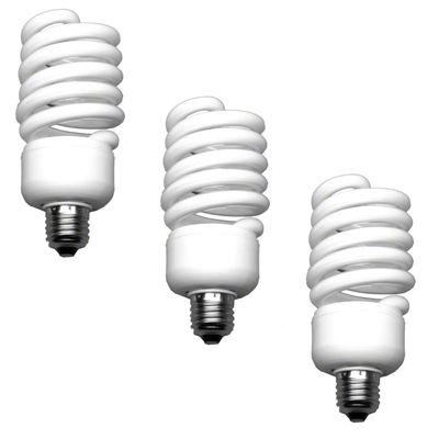 Spiral-Tageslichtlampe 50W 3er-Set