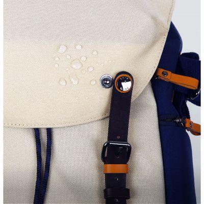 Rucksack Getaway Kampe Leder und spritzwasserfestes Nylon burgund-beige