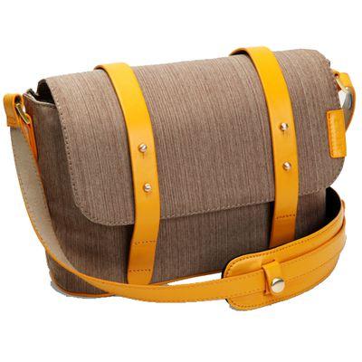 Für weitere Info hier klicken. Artikel: ZKIN Tasche Fairy E Leder und Stoff braun