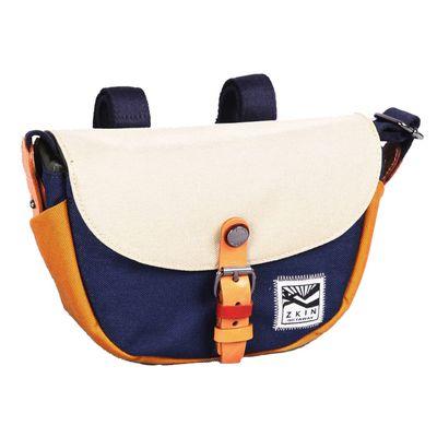 Für weitere Info hier klicken. Artikel: ZKIN Tasche Getaway Hyas Leder und spritzwasserfestes Nylon navy-beige