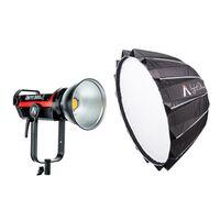 "Für weitere Info hier klicken. Artikel: Aputure Light Storm COB Lights LS C300D MKII (V-mount) Kit + Light Dome II (34,8"", 885mm)"