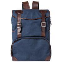 Für weitere Info hier klicken. Artikel: Barber Shop Zaino - Backpack Mop Top blue canvas - dark brown leather