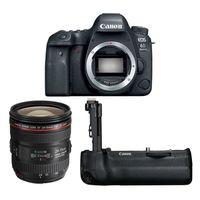 Für weitere Info hier klicken. Artikel: Canon EOS 6D Mark II + EF 24-70mm f/4,0 L IS USM + Akkugriff BG-E21