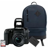 Canon EOS 77D + EF-S 18-55mm IS STM + Akku LP-E17 + 32 GB SD-Karte + Canon Rucksack BP100
