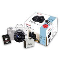 Für weitere Info hier klicken. Artikel: Canon EOS M50 + EF-M 15-45mm + 32 GB Speicherkarte + Zusatzakku (Peter Hadley Special Kit) weiß