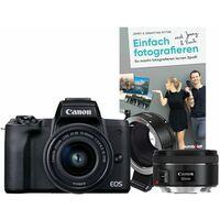 Für weitere Info hier klicken. Artikel: Canon EOS M50 + EF-M 15-45mm + Objektivadapter EF-EOS M + EF 1,8/50 STM + Buch Einfach fotografieren lernen