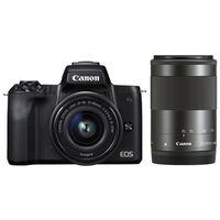 Für weitere Info hier klicken. Artikel: Canon EOS M50 + EF-M 3,5-6,3/15-45 IS STM + EF-M 55-200mm schwarz