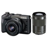 Für weitere Info hier klicken. Artikel: Canon EOS M6 + EF-M 3,5-6,3/15-45 IS STM + EF-M 4,5-6,3/55-200 IS STM schwarz