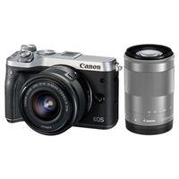 Für weitere Info hier klicken. Artikel: Canon EOS M6 + EF-M 3,5-6,3/15-45 IS STM + EF-M 4,5-6,3/55-200 IS STM silber