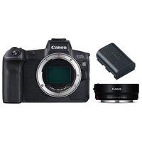 Für weitere Info hier klicken. Artikel: Canon EOS R Gehäuse + Adapter EF-EOS R + Batteriegriff BG-E22 + Akku LP-E6N