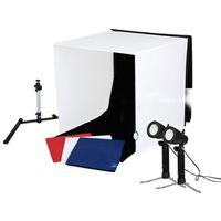 Für weitere Info hier klicken. Artikel: Caruba Portable Fotostudio mit separaten LED-Lampen 40x40x40cm