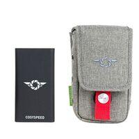 Für weitere Info hier klicken. Artikel: Cosyspeed Phoneslinger Power Smartphone-Tasche mit integrierter QI-Powerbank 10.000 mAh grau
